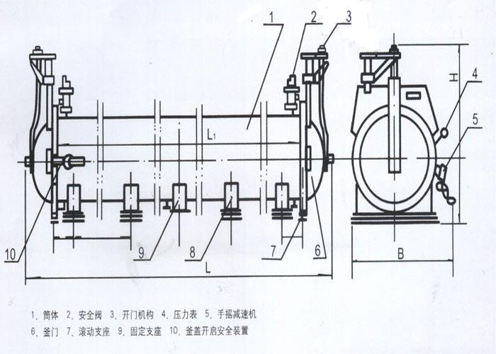 蒸压釜结构图
